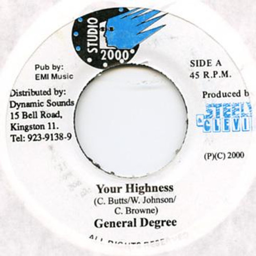 Your Highness - General Degree (7 Inch Vinyl)