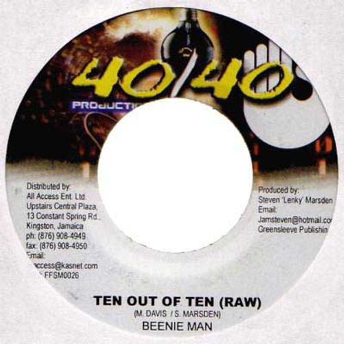 Ten Out Of Ten - Beenie Man (7 Inch Vinyl)