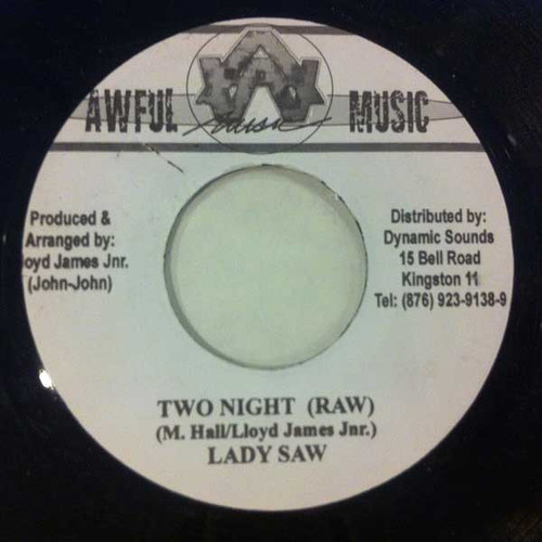 Two Night - Lady Saw (7 Inch Vinyl)