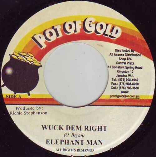 Wuck Dem Right - Elephant Man (7 Inch Vinyl)