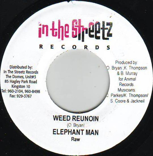 Weed Reunoin - Elephant Man (7 Inch Vinyl)