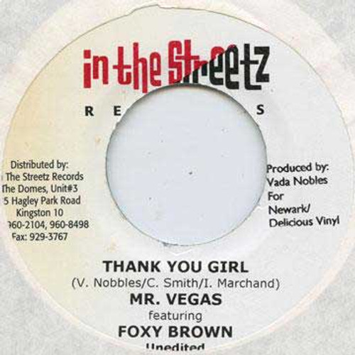 Thank You Girl - Mr. Vegas & Foxy Brown (7 Inch Vinyl)