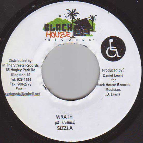 Wrath - Sizzla (7 Inch Vinyl)