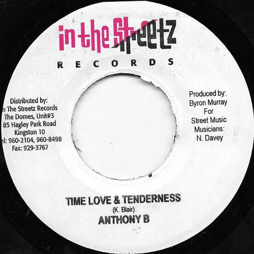 Time Love & Tenderness - Anthony B (7 Inch Vinyl)