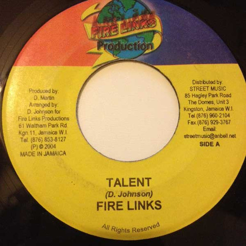 Talent - Fire Links (7 Inch Vinyl)