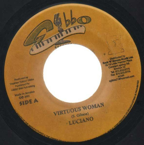 Virtuos Woman - Luciano (7 Inch Vinyl)