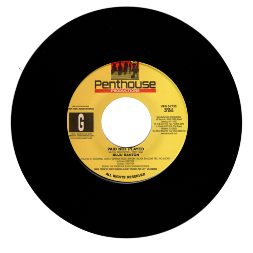 Paid Not Played - Buju Banton (7 Inch Vinyl)