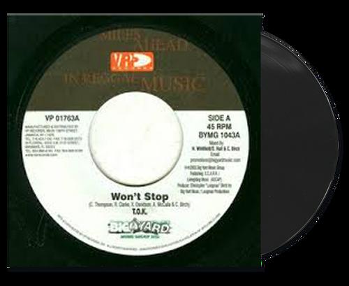 Won't Stop - T.o.k (7 Inch Vinyl)