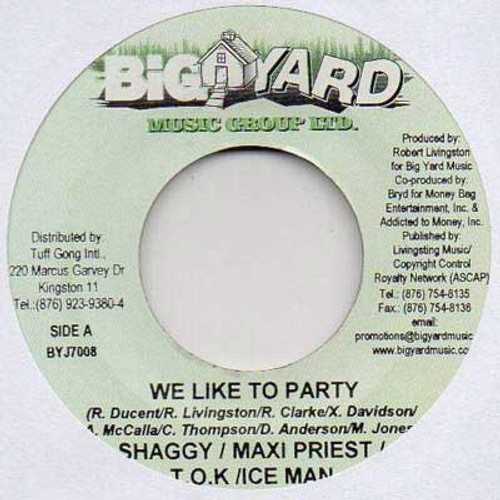 We Like To Party - Shaggy&maxi Priest&tok & Ice Man (7 Inch Vinyl)