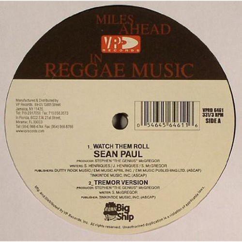 Watch Them Roll - Sean Paul (12 Inch Vinyl)