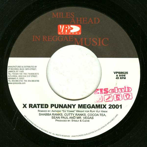 X-rated Punany Megamix 2001 - Various Artists (7 Inch Vinyl)