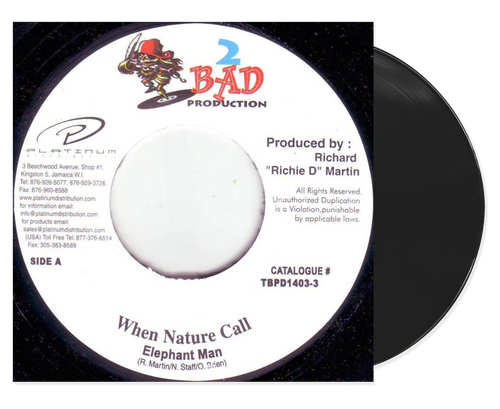 When Nature Call - Elephant Man (7 Inch Vinyl)