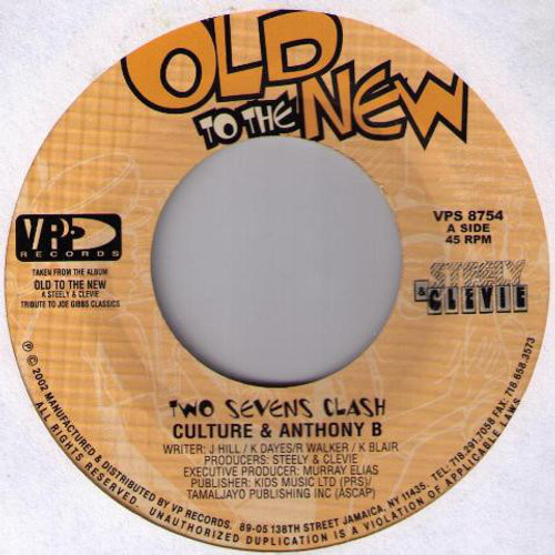 Two Sevens Clash - Culture & Anthony B (7 Inch Vinyl)