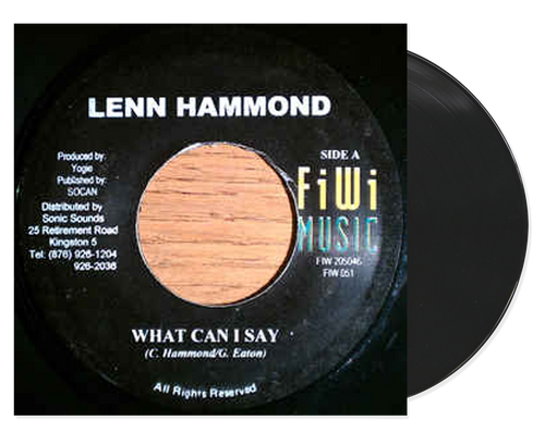 What Can I Say - Lenn Hammond (7 Inch Vinyl)