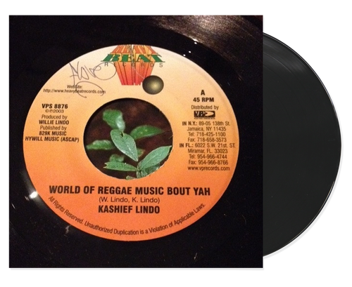 World A Reggae Music Bout Yah - Kashief Lindo (7 Inch Vinyl)