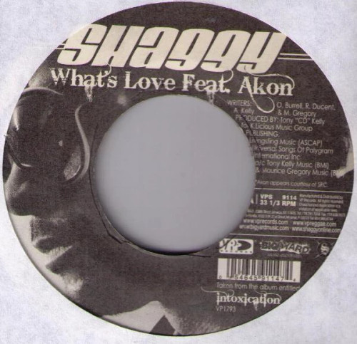 What's Love - Shaggy Feat.Akon (7 Inch Vinyl)