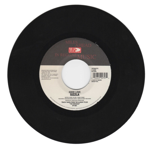 Good Love - Sizzla (7 Inch Vinyl)