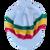 Knitted Tam - White Ras W/ Visor