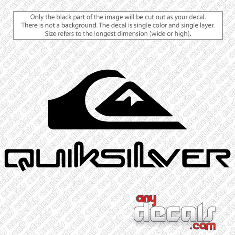 surf decals, skate decals, surf stickers, skate stickers, quiksilver car decals, car decals, car stickers, decals for cars, stickers for cars