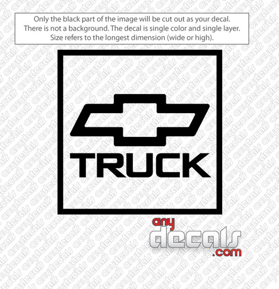 Chevy Truck Car Decal