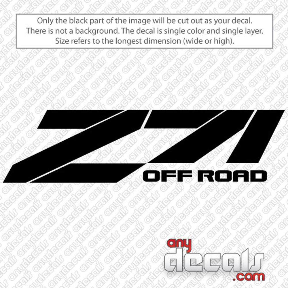 car decals, truck decals, chevy Z71 decals