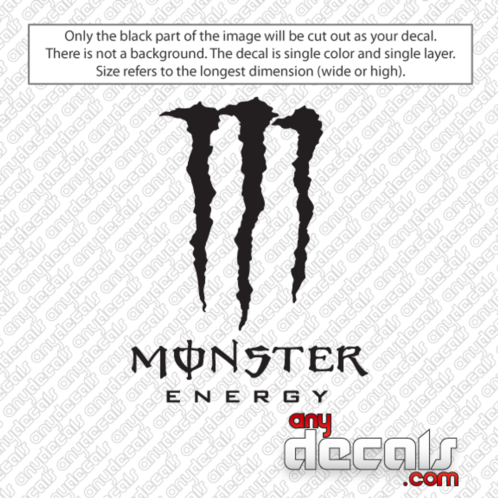 Monster energy drink car decal