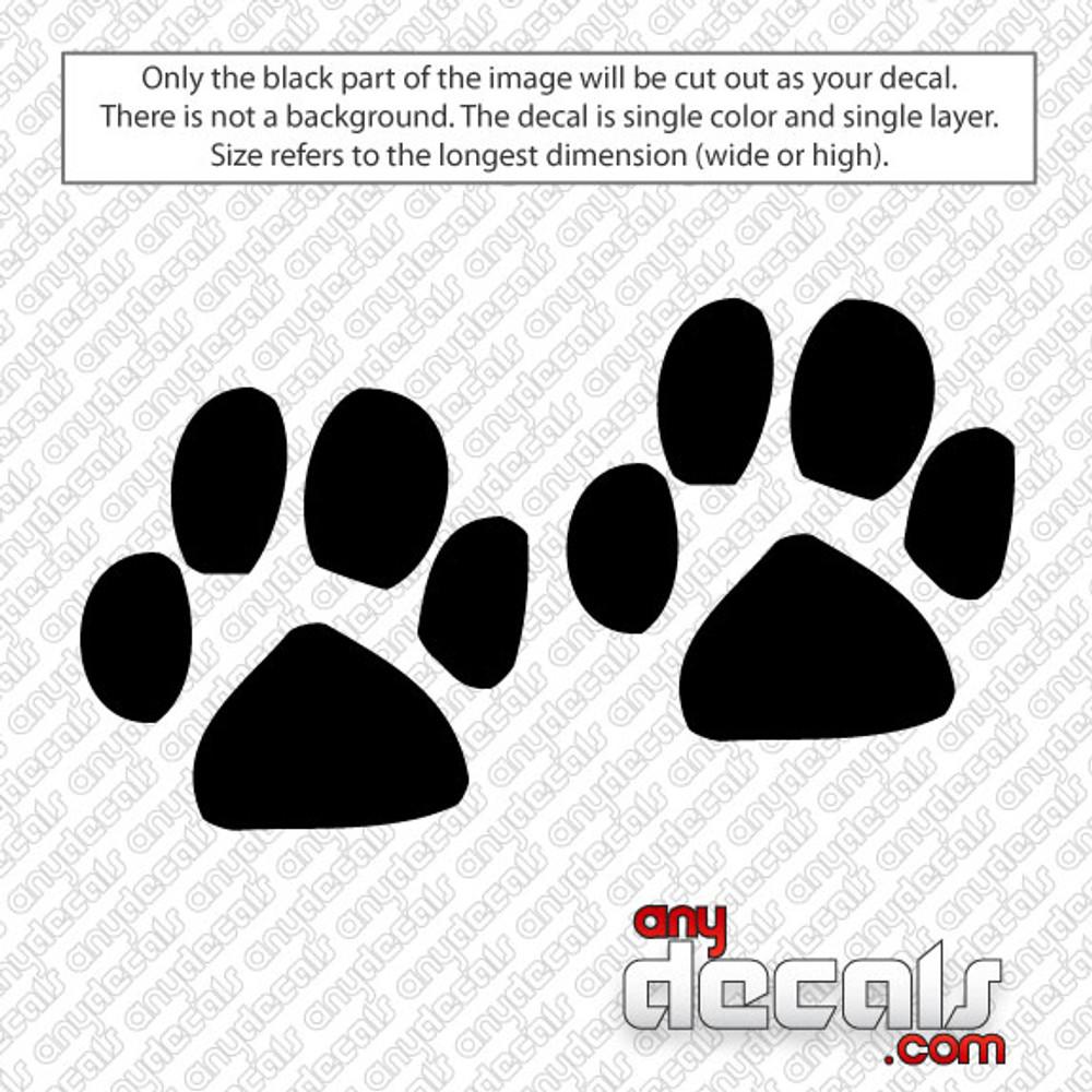 Car Decals, Car Stickers, Flip flops, Dog Paws
