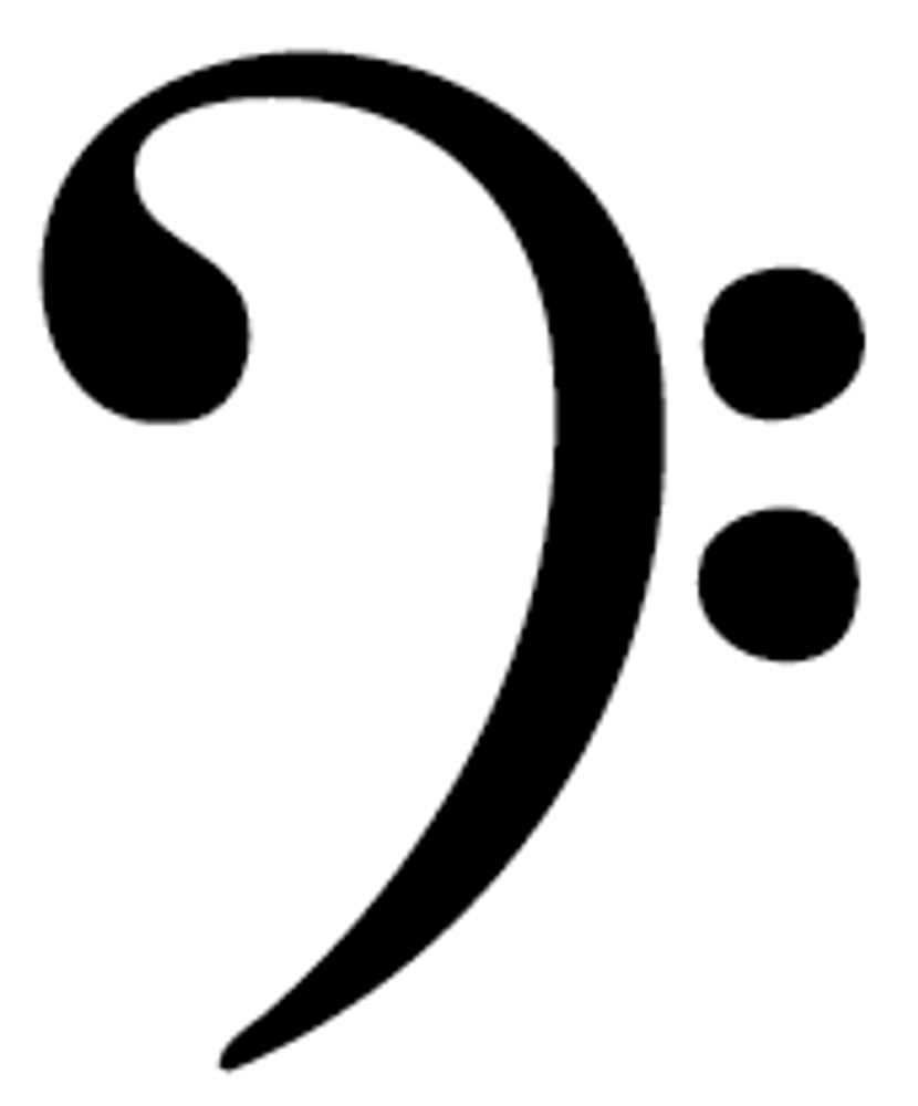 Bass Clef Car Decal