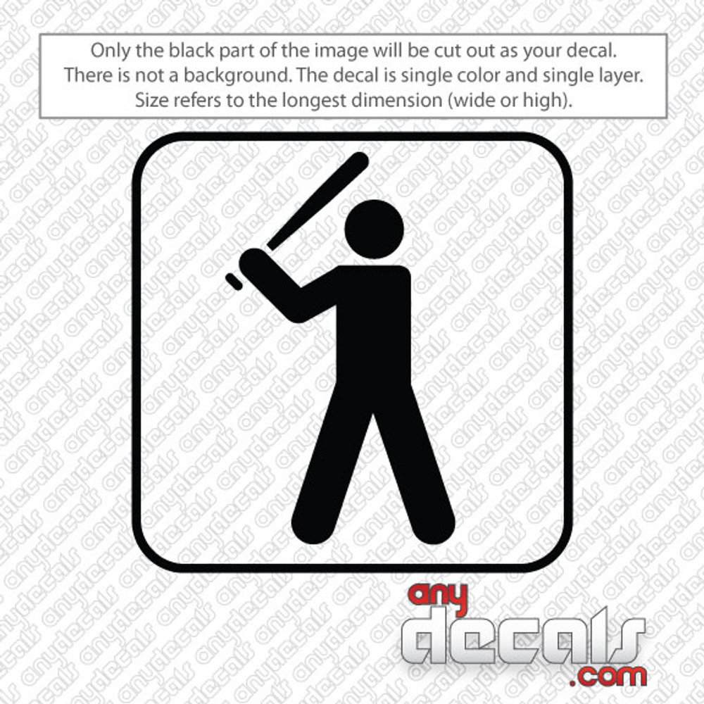 baseball symbol car decals and stickers