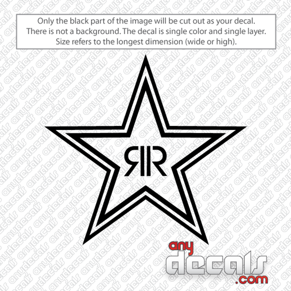 Rockstar Star Energy car decals, Energy Drink car stickers