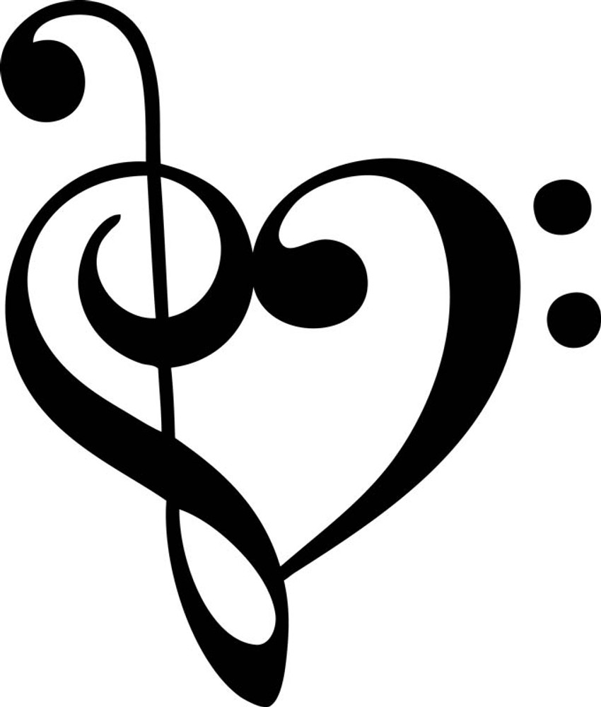 Music Heart Car Decal