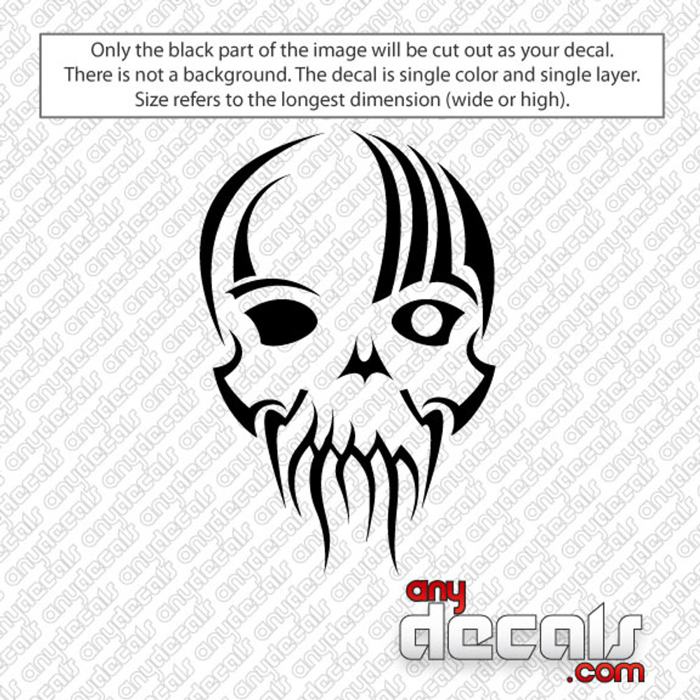 One eye skull car decal