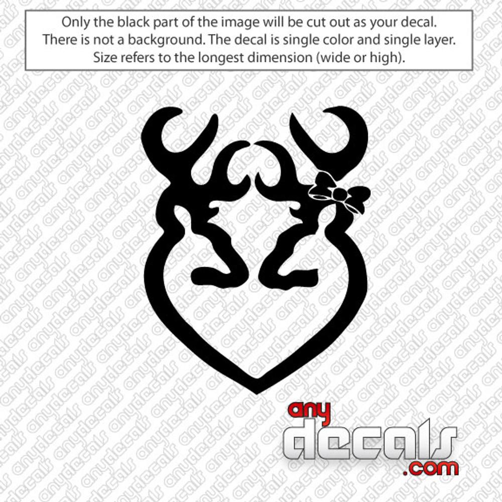 Browning Buck Heart Deer Car Decal