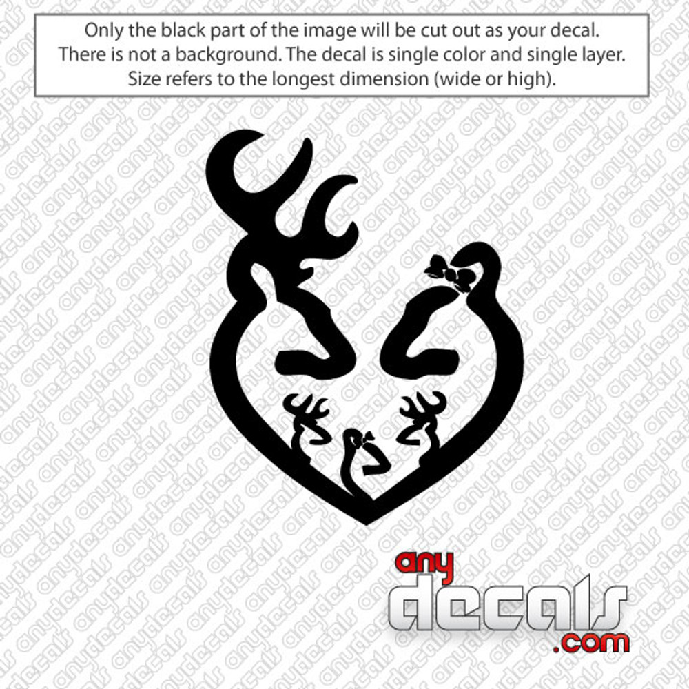 Browning Deer With Family Car Decal