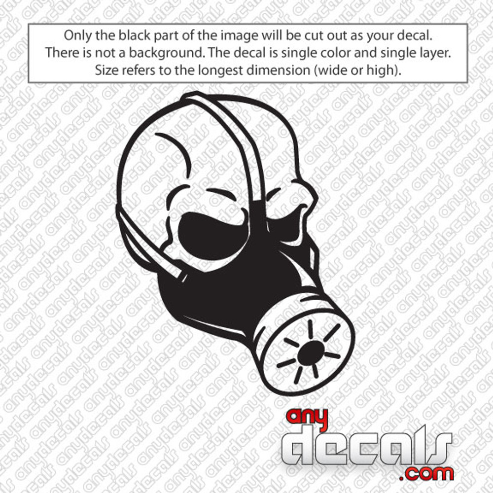 Gas Mask Skull Car Decal