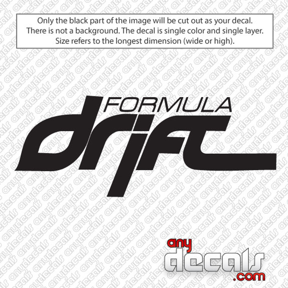 Formula Drift Car Decal
