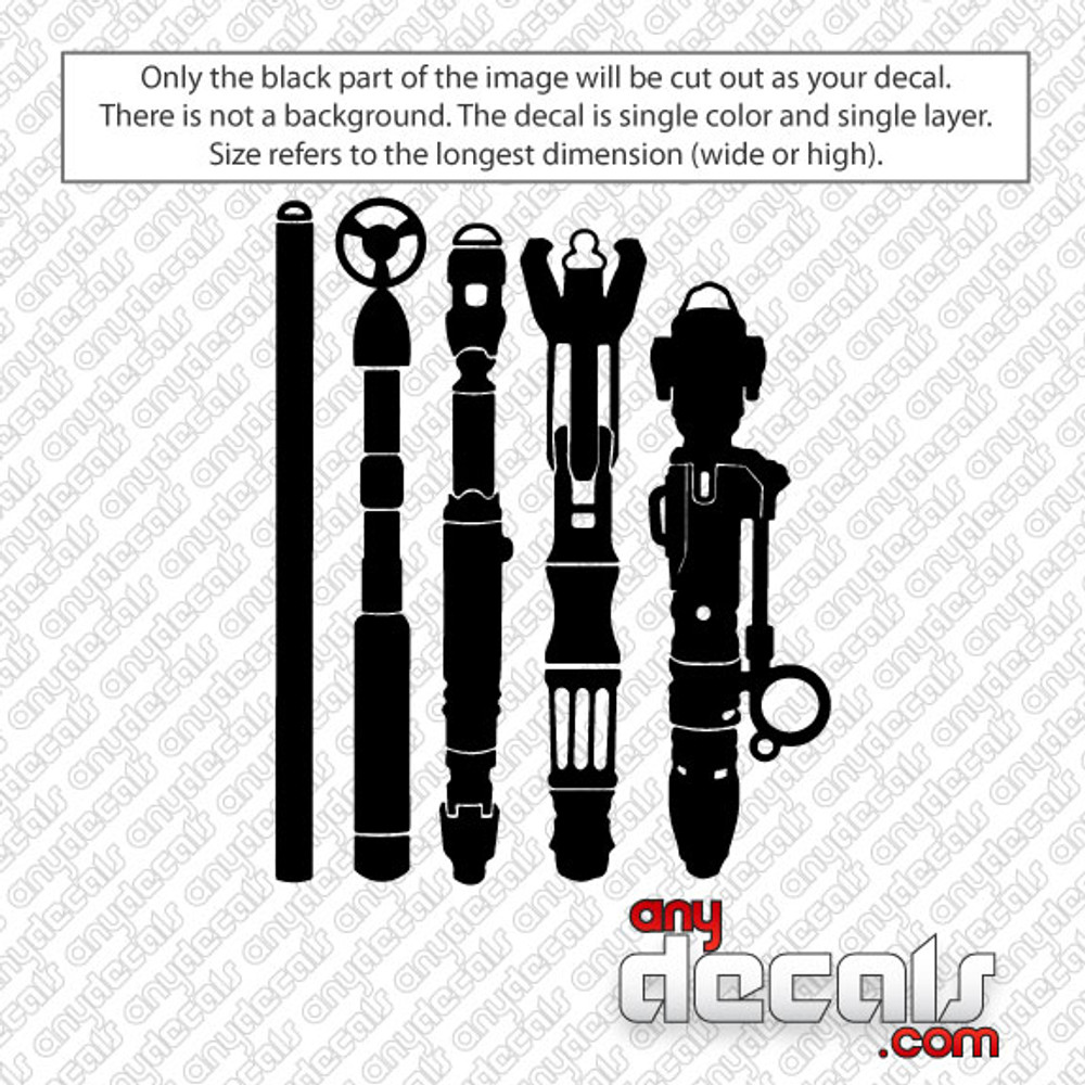 Dr Who Sonic Screwdriver Pack Car Decal