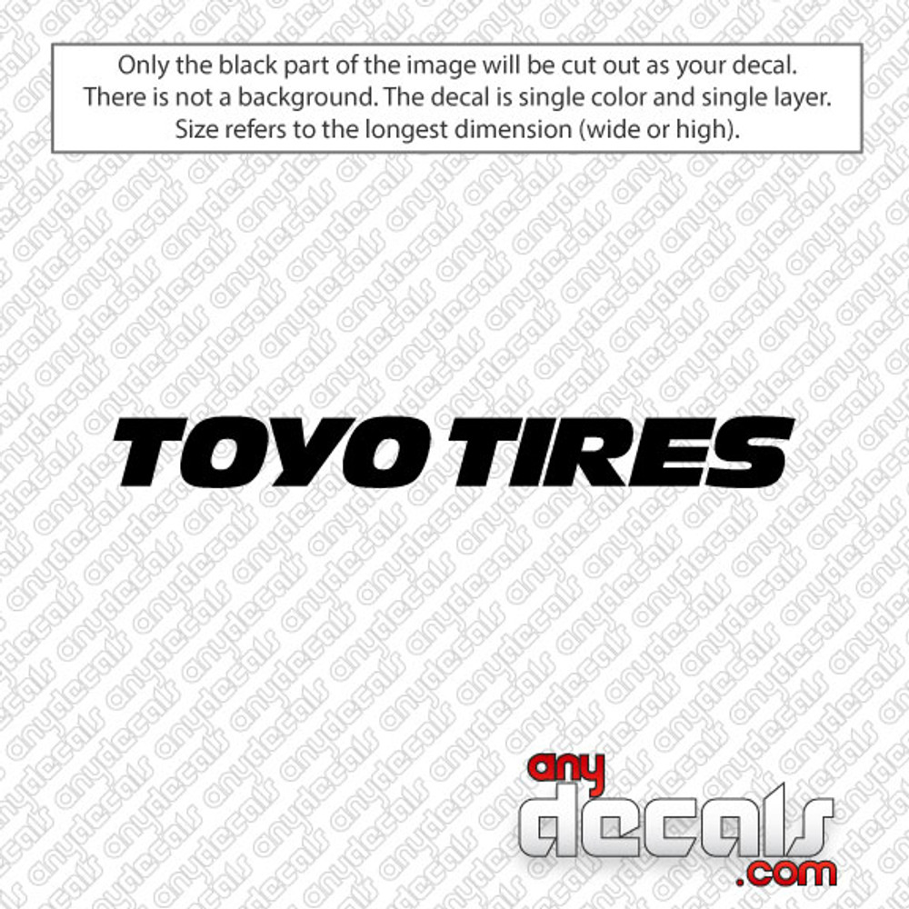 Toyo Tires Car Decal