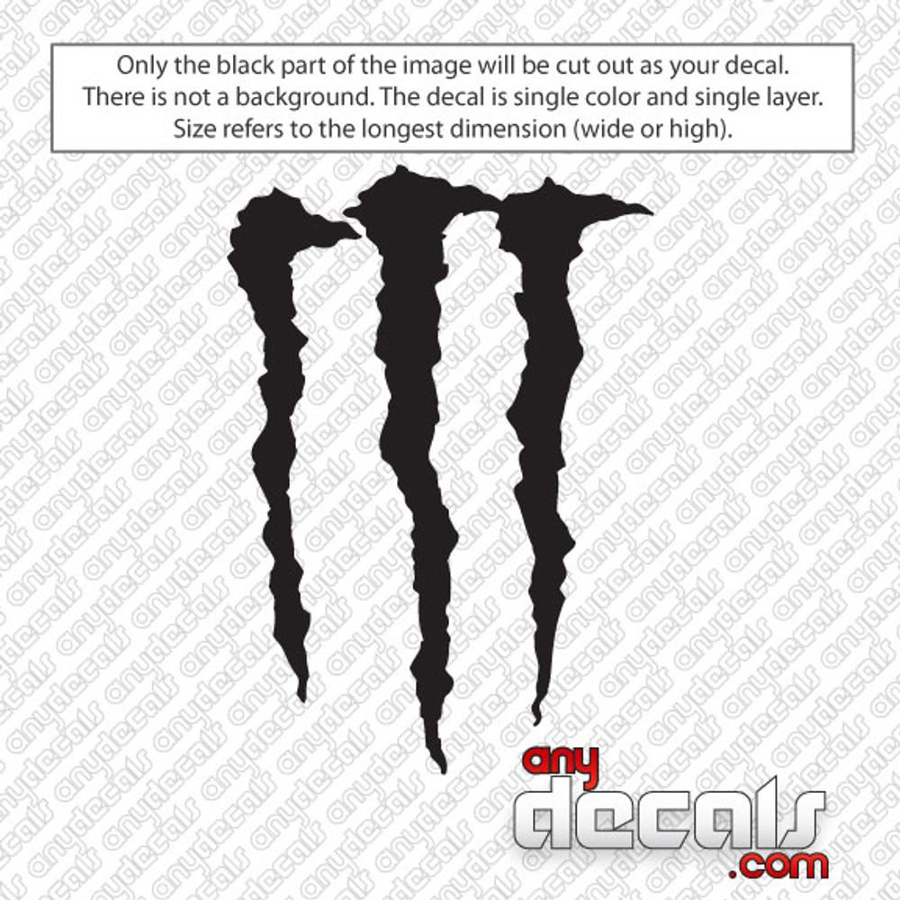 Monster Energy 'M' Car Decal