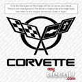 car decals, chevy corvette flags decals