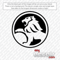holden car decal, holden lion circled
