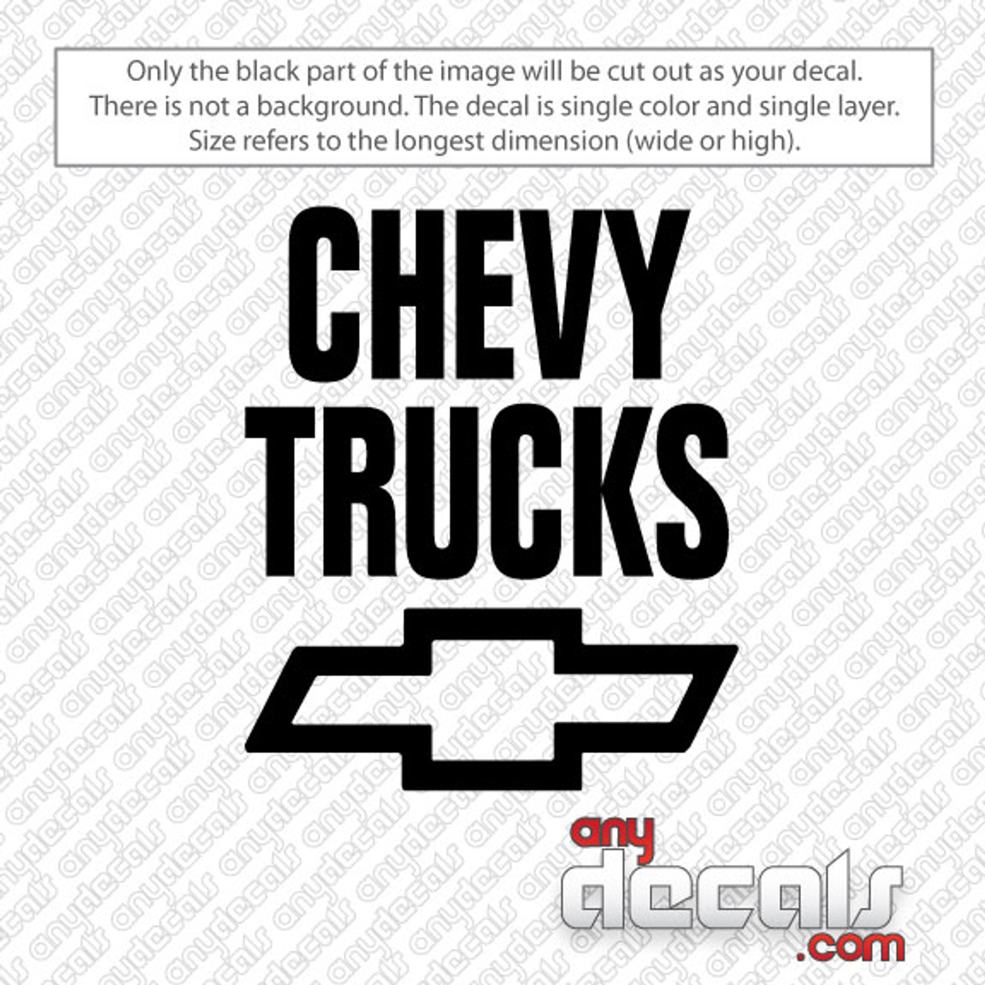 Chevy Trucks Car Decal