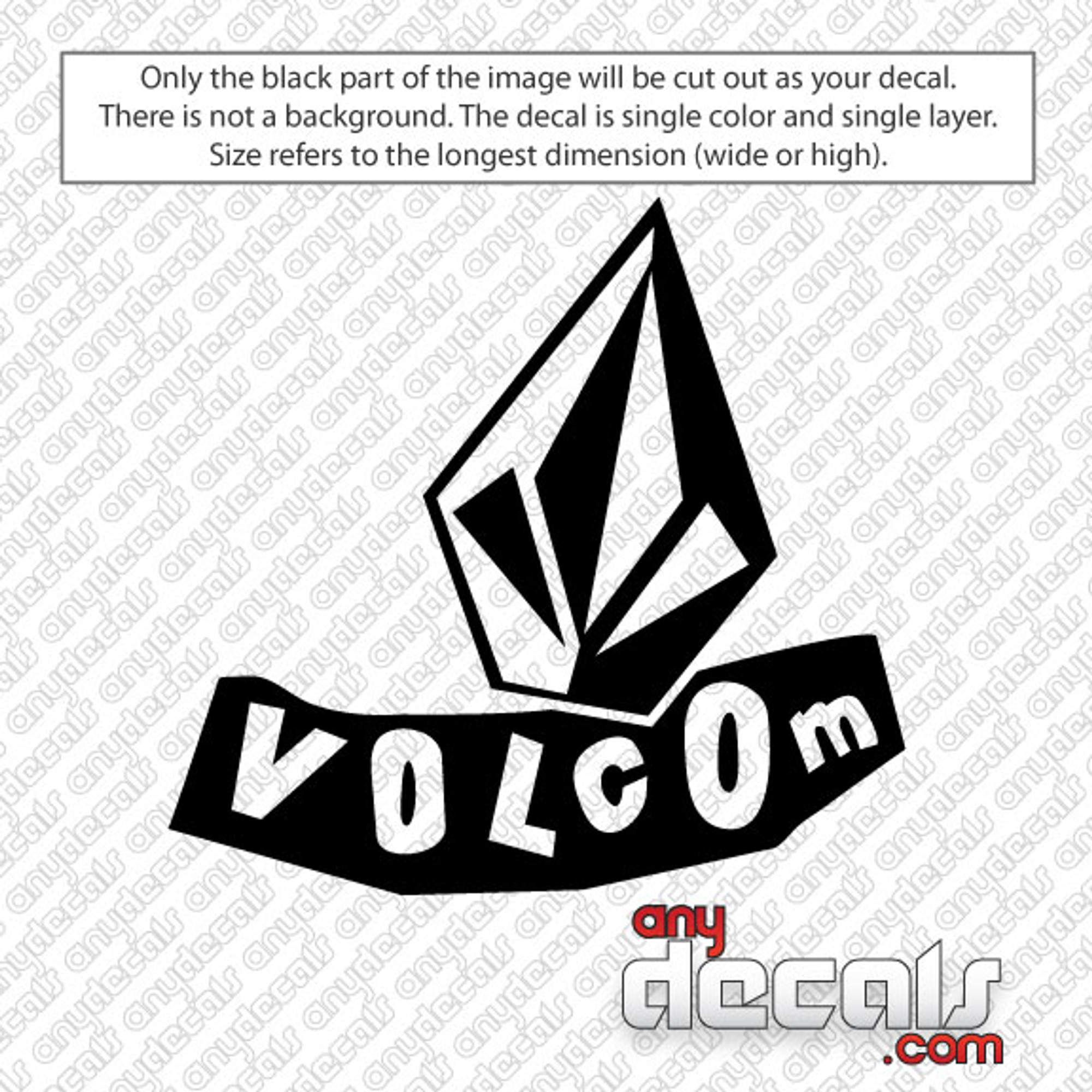 Volcom Leaning Car Decal