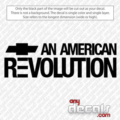 car decals, truck decals, chevy american revolution decals