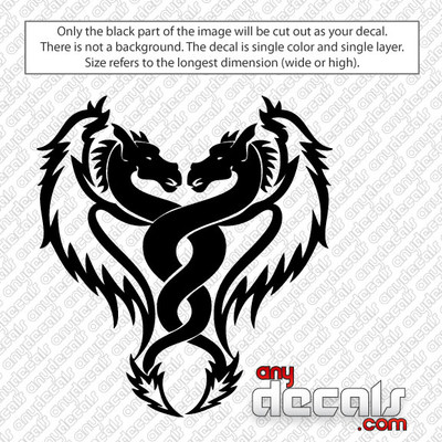 Cool Dual Dragon Car Decal