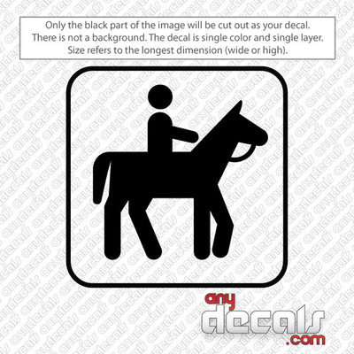 horseback riding symbol car decals and stickers