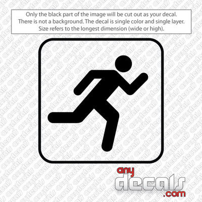 running symbol car decals and stickers