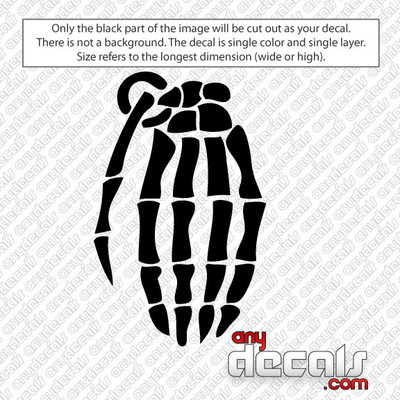 Grenade bone hands Car Decal