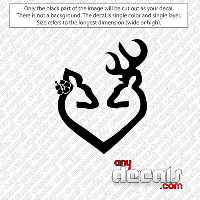 Browning Buck and Doe Car Decal