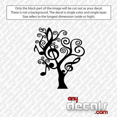 Music Note Tree Car Decal